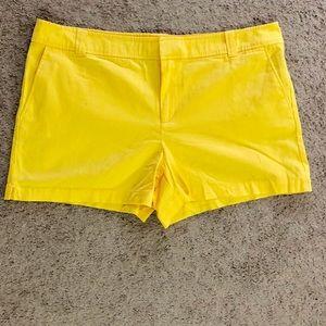 NY&CO yellow shorts